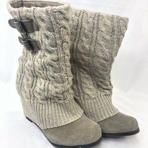 Steve Madden Aspire Knit Bootie Wedge Heel Size 6